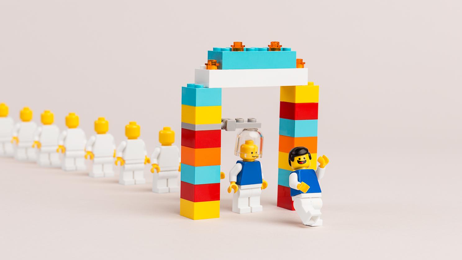 Lego facilitator at Microsoft